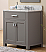 """30"""" Cashmere Grey Single Sink Bathroom Vanity with Carrara White Marble Top"""