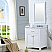 "30"" Pure White Single Sink Bathroom Vanity with Carrara White Marble Top"