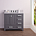 """36"""" Cashmere Grey Single Sink Bathroom Vanity with Carrara White Marble Top"""