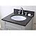 """30"""" Earl Grey Single Sink Bathroom Vanity with Blue Limestone Granite Top"""