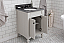 """24"""" Bathroom Vanity in Earl Grey with Blue Limestone Top with Faucet"""