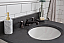 """30"""" Bathroom Vanity in Earl Grey with Blue Limestone Top with Faucet"""