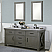 """72"""" Grizzle Grey Double Sink Bathroom Vanity With Counter Top Options"""