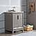 """24"""" Single Sink Carrara White Marble Vanity In Cashmere Grey Finish"""
