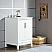 "24"" Single Sink Carrara White Marble Vanity In Pure White Finish"
