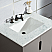 """30"""" Single Sink Carrara White Marble Vanity In Cashmere Grey Finish"""