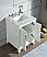 "30"" Single Sink Carrara White Marble Vanity In Pure White Finish"