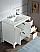 "36"" Single Sink Carrara White Marble Vanity In Pure White Finish"