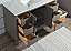"""48"""" Single Sink Carrara White Marble Vanity In Cashmere Grey Finish"""