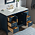 "48"" Single Sink Carrara White Marble Vanity In Monarch Blue Finish"