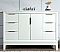 "48"" Single Sink Carrara White Marble Vanity In Pure White Finish"