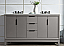"""60"""" Double Sink Carrara White Marble Vanity In Cashmere Grey Finish"""