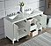 "60"" Double Sink Carrara White Marble Vanity In Pure White Finish"