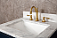 "24"" Single Sink Carrara White Marble Vanity In Monarch Blue Color"