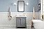 "30"" Single Sink Quartz Carrara Vanity In Cashmere Grey"