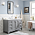 "48"" Single Sink Quartz Carrara Vanity In Cashmere Grey"