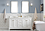 "60"" Double Sink Quartz Carrara Vanity In Pure White"