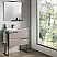 """32"""" Single Sink Vanity 2 Drawer, Ceramic Sink with Metal Legs and Towel Bar"""