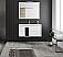 "32"" Wall Mount Single Sink Bathroom Vanity 2 Drawer with Ceramic Sink"