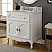 "34"" Single Sink Victorian Cottage Style Bathroom Vanity with White Marble Counter Top"