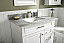 """36"""" Single Sink Vanity Cabinet with Carrara White Top and Color Options"""