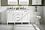 """54"""" Double Sink Vanity Cabinet White Finish with Carrara White Top"""