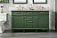 """60"""" Double Sink Vanity Cabinet Vogue Green Finish with Carrara White Top"""
