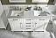 """60"""" Double Sink Vanity Cabinet White Finish with Carrara White Top"""