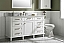 "60"" Single Sink Vanity Cabinet White Finish with Carrara White Top"