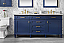 """72"""" Double Sink Vanity Cabinet Blue Finish with Carrara White Top"""