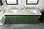 "72"" Double Sink Vanity Cabinet Vogue Green Finish with Carrara White Top"