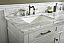 """72"""" Double Sink Vanity Cabinet White Finish with Carrara White Top"""