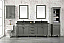"""80"""" Pewter Green Double Sink Vanity Cabinet with Carrara White Quartz Top"""