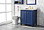 "30"" Blue Finish Sink Vanity Cabinet with Carrara White Top"