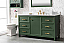 "60"" Vogue Green Finish Single Sink Vanity Cabinet with Carrara White Top"