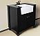 "30"" Espresso Finish Single Sink Vanity Cabinet with Black Granite Top"