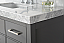 "36"" Single Sink Bath Vanity Set in Sapphire Gray with Italian Carrara White Marble Vanity top and White Undermount Basin"