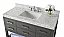 "48"" Single Sink Bath Vanity Set in Sapphire Gray with Italian Carrara White Marble Vanity top and White Undermount Basin"