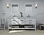 """72"""" Double Sink Bath Vanity Set in White with Italian Carrara White Marble Vanity top and White Undermount Basin with Top and Mirror Options"""