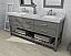 "72"" Double Sink Bath Vanity Set in Sapphire Gray with Italian Carrara White Marble Vanity top and White Undermount Basin"