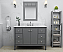 "48"" Single Sink Bath Vanity Set in Sapphire Gray Finish with Italian Carrara White Marble Vanity top and White Undermount Basin"