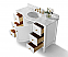 """48"""" Single Sink Bath Vanity Set in White with Italian Carrara White Marble Vanity Top and White Undermount Basin with Gold Hardware"""