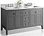 "60"" Bath Vanity Set in Sapphire Gray Finish with Italian Carrara White Marble Vanity top and White Undermount Basin"