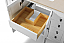 """48"""" Bath Vanity Set in White Finish with Natural Marble Vanity Top in Galala Beige and White Undermount Basin"""