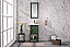 "17"" Vogue Green Single Sink Bathroom Vanity in Ceramic Top and White Ceramic Sink"