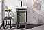 "17"" Single Sink Bathroom Vanity with Ceramic Top and White Ceramic Sink Pre-drilled with One Hole with in 2 Color Options"