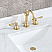 Satin Gold High Arc Torch Lever Handle True Brass Lavatory Faucet