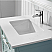 "30"" Single Vanity in Finish Green and Composite Carrara White Stone Countertop Without Mirror"
