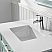 """36"""" Single Vanity in Finnish Green and Composite Carrara White Stone Countertop Without Mirror"""