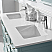 """60"""" Double Vanity in Finnish Green and Composite Carrara White Stone Countertop Without Mirror"""